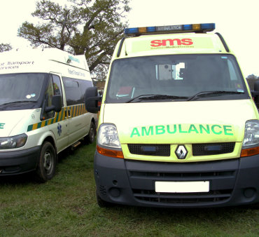 An image of our ambulances